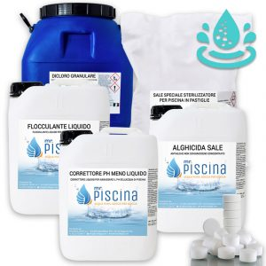 Kit prodotti trattamento acqua al sale KIT-M-200-E
